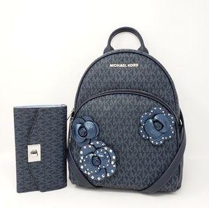 Michael Kors Abbey Sig. Floral Backpack Set